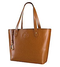 Lauren Ralph Lauren Newbury Leather Classic Tote