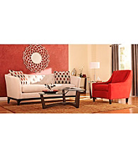 HM Richards Profile Tufted Back Microfiber Sofa & Chair Living Room Collection