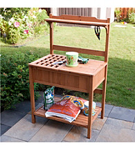 Merry Products, Corp. Potting Bench with Recessed Storage