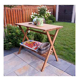 Merry Products, Corp. Simple Potting Bench & Console Table