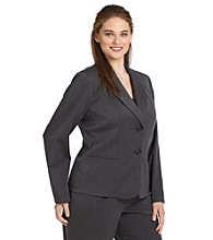 Anne Klein® Plus Size Two-Button Career Blazer