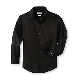 Shirt Dress on Product  Calvin Klein Boys  8 20 Black Long Sleeve Sateen Dress Shirt
