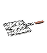 Outset® Triple Fish Basket with Rosewood Handle