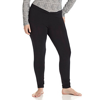 Cuddl Duds® Softwear with Stretch Plus Size Long Leggings - Black
