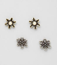 Nine West Vintage America Collection® Floral Stud Earrings Set