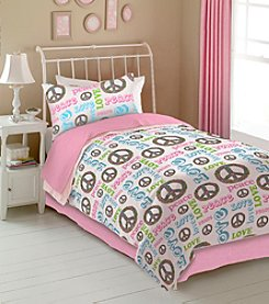 Peace and Love Kids' Bedding Collection by Veratex®