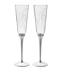 Mikasa® Love Story Set of 2 Champagne Flutes