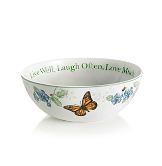 Lenox® Butterfly Meadow® 68-oz. Live Well, Laugh Often Large Sentiment Bowl