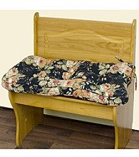 Greendale Home Fashions Roswell Floral Single Bench Cushion - Ebony