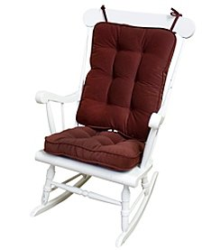Greendale Home Fashions Hyatt Standard Rocking Chair Cushions - Burgundy