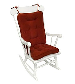 Greendale Home Fashions Hyatt Standard Rocking Chair Cushions - Scarlet