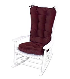 Greendale Home Fashions Hyatt Jumbo Rocking Chair Cushion Set - Burgundy