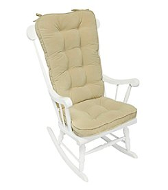 Greendale Home Fashions Hyatt Jumbo Rocking Chair Cushion Set - Cream