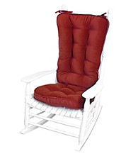 Greendale Home Fashions Hyatt Jumbo Rocking Chair Cushion Set - Scarlet