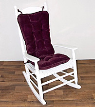 Greendale Home Fashions Cherokee Jumbo Rocking Chair Cushion Set - Grape