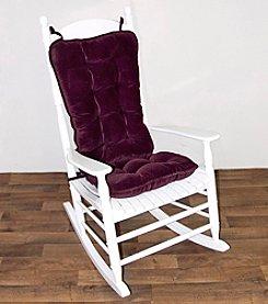 Greendale Home Fashions Cherokee Jumbo Rocking Chair Cushion Set - Grape