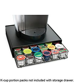 Lipper International Coffeemaker Shelf with Coffee Pod Storage Drawer