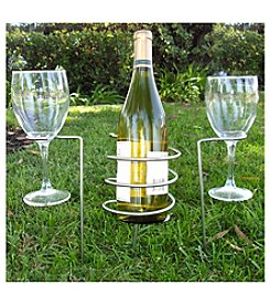 Epicureanist™ Wine Bottle and Glass Holding Stakes