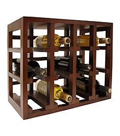 Vinotemp® 12-Bottle Stackable Wood Wine Rack