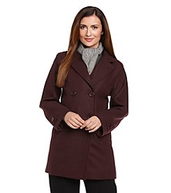 Forecaster Double-Breasted Notch Collar Scarf Coat