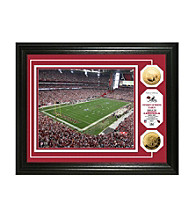 Framed Photo of University of Phoenix Stadium and NFL Coins by Highland Mint