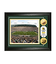 Framed Photo of Lambeau Field with NFL Coins by Highland Mint