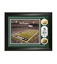 Framed Photo of Jets Stadium with NFL Coins by Highland Mint