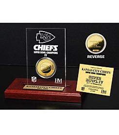 NFL® Kansas City Chiefs Super Bowl Champs 24K Gold-Plated Coin in Etched Acrylic