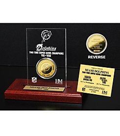 NFL® Miami Dolphins Super Bowl Champs 24K Gold-Plated Coin in Etched Acrylic
