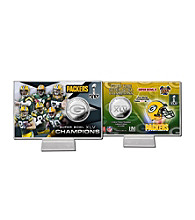 Super Bowl XLV Silver Coin Card by Highland Mint