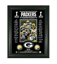 Super Bowl XLV Champions Photo, 24K Gold-Plated Coins with Etched Glass Panel by Highland Mints