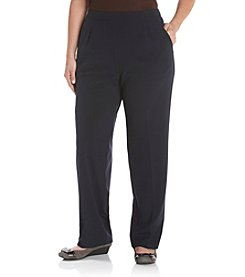 Briggs New York® Plus Size Flat-Front Pull-On Pants