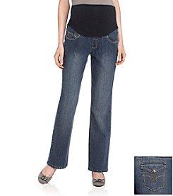 Three Seasons Maternity™ Large Stitch Five Pocket Jeans