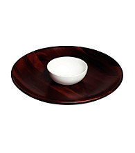 Gordon Ramsay Maze by Royal Doulton® Wood Chip Tray and Ceramic Dip Bowl