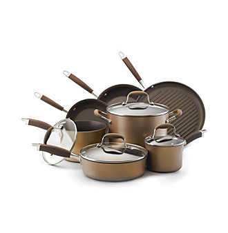 Anolon® Advanced 11-pc. Bronze Hard-Anodized Nonstick Cookware Set + FREE Gift see offer details