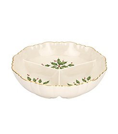 Lenox® Holiday Archive Divided Condiment Dish