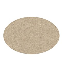 "Bungalow Flooring DirtStopper Brown and White 30x46"" Oval Mat"
