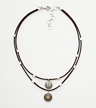 Nine West Vintage America Collection® Double Layer Suede Necklace
