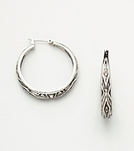Nine West Vintage America Collection® Stamped Hoops