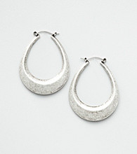Nine West Vintage America Collection® Silver Ox Oval Hoops