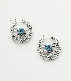Nine West Vintage America Collection® Floral Turquoise Earrings