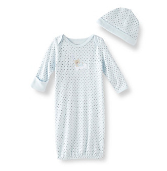 Little Me® Baby Boys' Sleepy Bear Gown - Blue