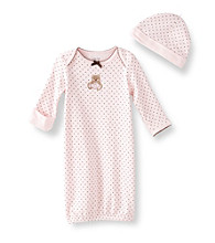 Little Me® Baby Girls' Pink Sleepy Bear Gown