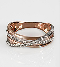 Effy® 14K Gold .29 ct.t.w. Diamond Ring - Rose Gold