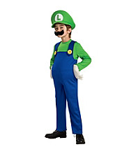 Super Mario Bros. - Deluxe Luigi Child's Costume