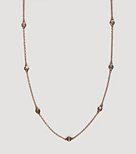 Effy® 14k Gold .21 ct. t.w. Station Diamond Necklace - Rose Gold