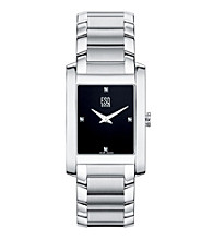 ESQ® Movado® Men's Venture™ .017 ct. t.w. Diamond Watch - Silver