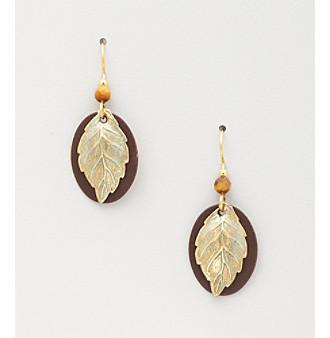 Silver Forest® Oval Leaf Earrings