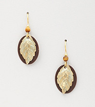 Silver Forest® Oval Leaf Earrings
