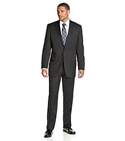 Calvin Klein Men's Solid Black 2-Piece Suit